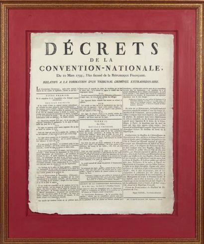 [AFFICHE]. Décrets de La Convention-Nationale,...