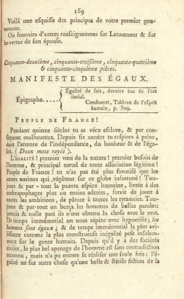 [BABEUF (François-Noël)]. Réunion de pièces...