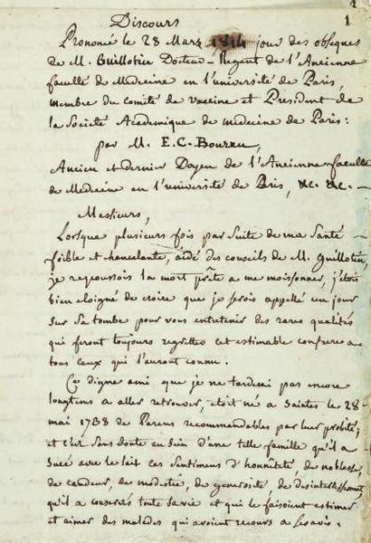 BOURRU (Edme-Claude, 1741-1823)