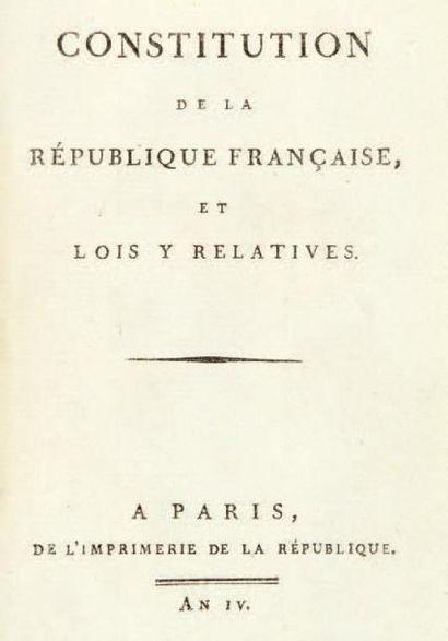 Constitution de la République française,...