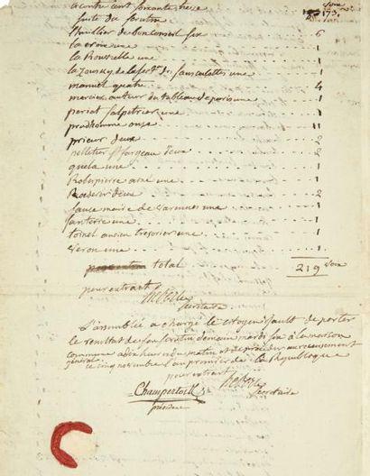 HÉBERT (Jacques-René, 1755-1794) révolutionnaire et violent pamphlétaire du Père Duchêne