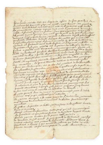 [CADIÈRE (Affaire de la)]. Manuscrit, [1731];...