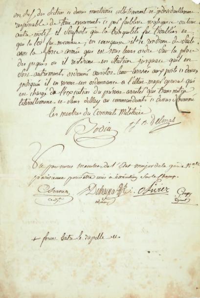 [JOURNÉES DE PRAIRIAL]. Lettre signée par...