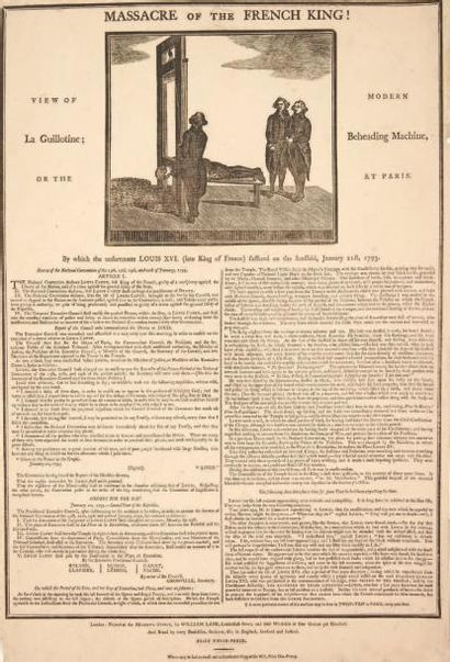 [LOUIS XVI]. Massacre of the French King...
