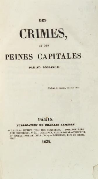 BOSSANGE (Adolphe)