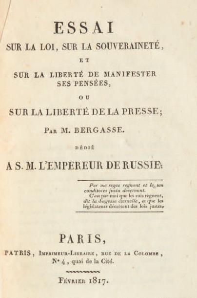 [CENSURE]. Ensemble de 5 ouvrages. 1817-1998....