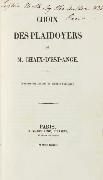 CHAIX-D'EST-ANGE (Gustave Louis)