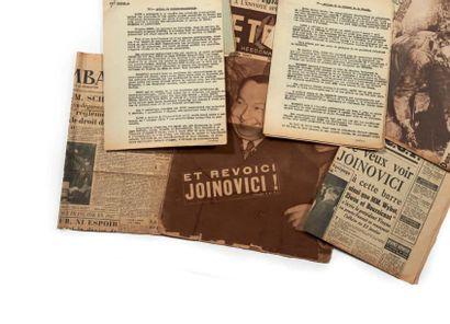 [COLLABORATION]. Ensemble de documents d'archives...