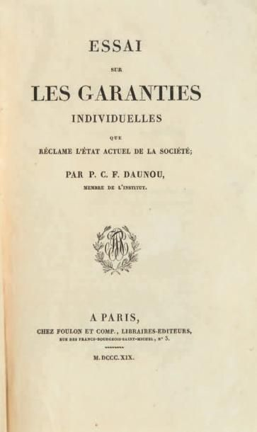 DAUNOU (Pierre-Claude-François)