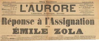 [DREYFUS]. Émile ZOLA. Numéro du journal...