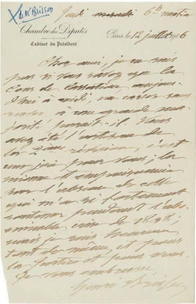 [DREYFUS]. 4 lettres autographes signées,...