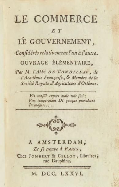 CONDILLAC (Étienne Bonnot, abbé de)