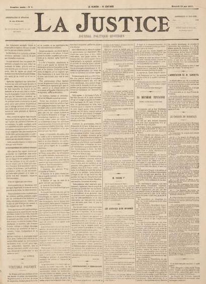 La Justice. Journal politique quotidien....