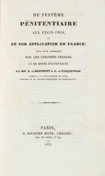 TOCQUEVILLE (Alexis de) et Gustave de BEAUMONT