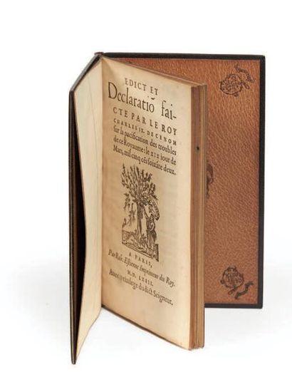 Edict et Declaration faicte par le roy Charles...