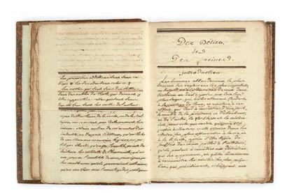 [BECCARIA (Cesare, 1738-1794) juriste, criminologue et philosophe italien]