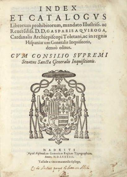 Index et catalogus librorum prohibitorum......