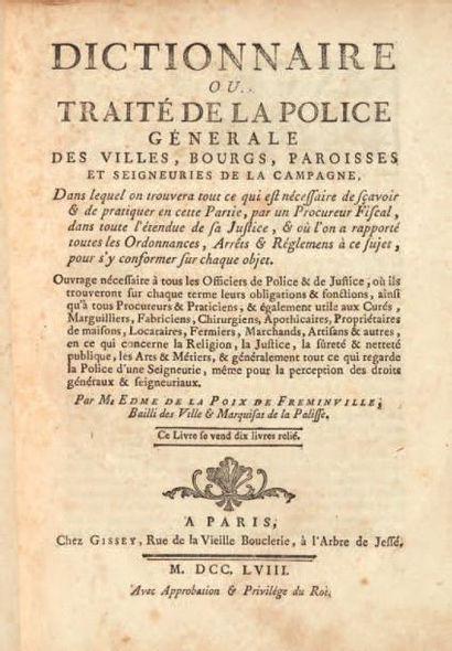 LA POIX DE FRÉMINVILLE (Edme de)