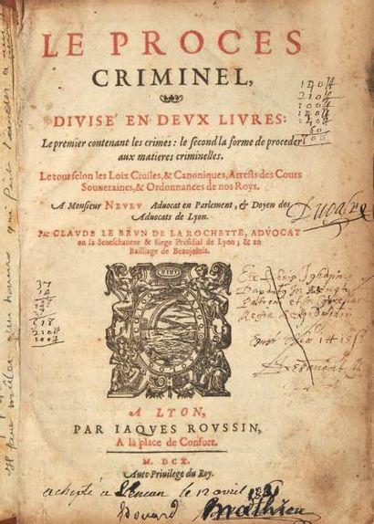 LE BRUN DE LA ROCHETTE (Claude)