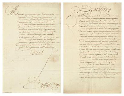 LOUIS XIII. Pièce et lettre signées