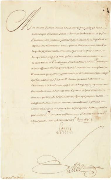 LOUIS XIII (1601-1643). Lettre signée