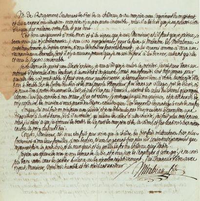 MIRABEAU (Honoré-Gabriel de Riquetti, comte de, 1749-1791)