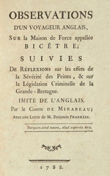MIRABEAU (Honoré-Gabriel Riquetti, comte de)