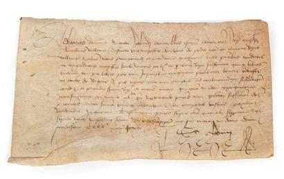 [NORMANDIE]. Charte, bailliage de Valognes...
