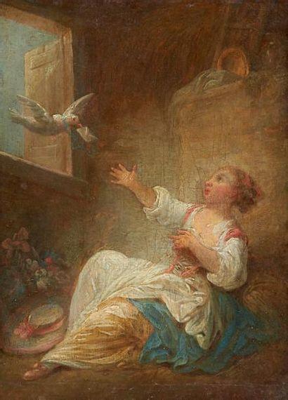 ATTRIBUÉ À JEAN BAPTISTE HUET (1745-1811)