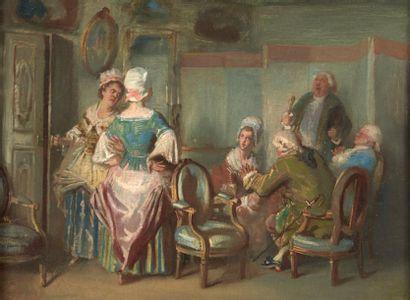 ECOLE ANGLAISE DE LA FIN DU XVIIIE SIÈCLE, SUIVEUR DE WILLIAM HOGARTH