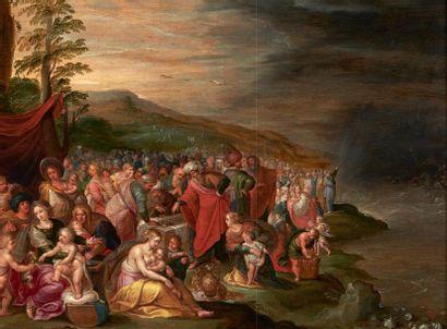 FRANS FRANCKEN ET SON ATELIER (1581-1642) Les Israelites après le passage de la mer...