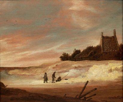 École HOLLANDAISE du XVIIIe siècle, dans le goût de Jan van GOYEN