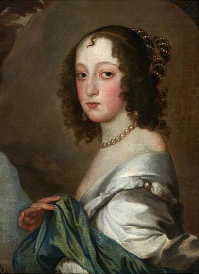ECOLE ANGLAISE DU XVIIE SIÈCLE, SUIVEUR D'ANTON VAN DYCK Portrait de Lady Isabella...