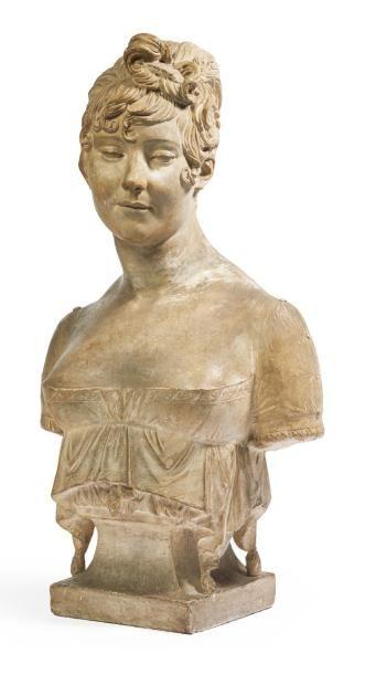 JOSEPH CHINARD (1756-1813) Buste en plâtre,...