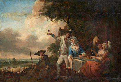 ECOLE FRANCAISE DU XVIIIE SIÈCLE, SUIVEUR DE LOUIS WATTEAU DE LILLE