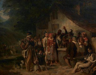 NICOLAS TOUSSAINT CHARLET ET HIPPOLYTE BELLANGE (PARIS 1792-1845) ET (PARIS 1800-1866)