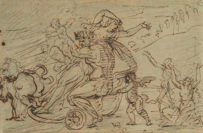 Ecole FRANCAISE du XVIIIe siècle, suiveur d'Antoine COYPEL