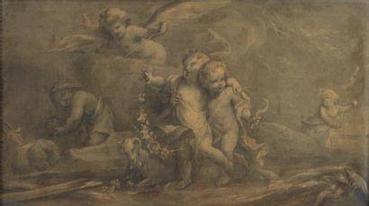 École FRANÇAISE du XVIIIe siècle, entourage de Charles EISEN