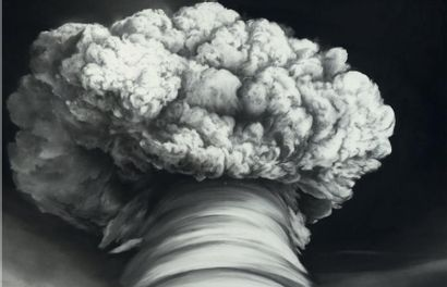 Robert LONGO (né en 1953) Untitled (Zeus), 2008 Fusain et encre sur papier. Signée...
