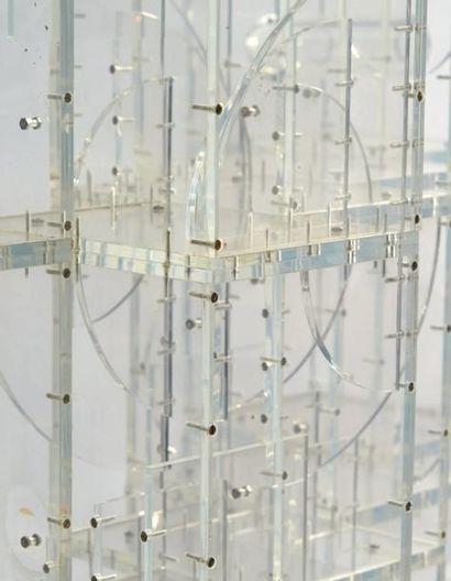 LOUISE NEVELSON (1899-1988) Transparent sculpture IV, 1967-1968 Oeuvre unique. Plexiglas...
