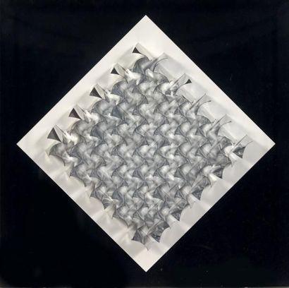 Julio le parc (Né en 1928) Relief 26, 1970 Feuilles d'aluminium dans une boite en...
