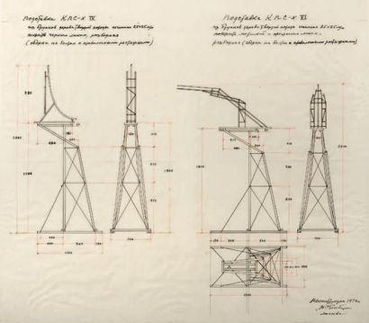 GEORGI AVGUSTOVICH STENBERG (1900-1933) KPS 11, 1919-1973 Construction d'un appareillage...