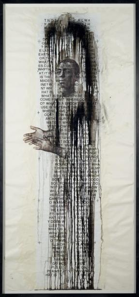 Jaume Plensa (né en 1955) N°2 Disegno, 2004 Huile, encre et résine sur papier. Signée...