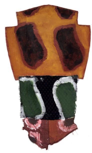 Claude Viallat (né en 1936) Raboutages, séries, 2009 Acrylique sur tissus. Etiquette...