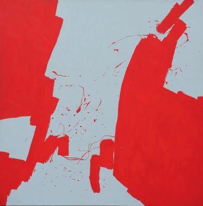 JEAN-MARC LOUIS Sam Sip Sogn, 1997 Acrylique sur toile. Signée au dos. H_195 cm L_195...