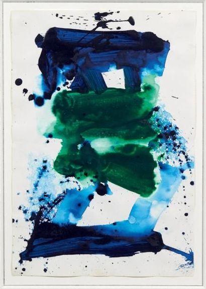 Sam Francis (1923-1994) SF 80-1160, 1980 Acrylique sur papier. Cachet de la signature...