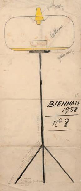 Günther FORG (1952-2013) Untitled, 1995 Gouache et collage sur papier. Signé et daté...