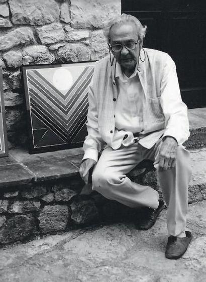 Sayed Haider RAZA (Né en 1922) Bindu, 2000 Acrylique sur toile. Signée et datée en...