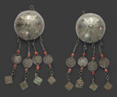 Deux pendants de tempes, Aït Atta ou Aït...