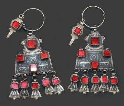 Paire de pendants d'oreille, Ida ou Nadif,...